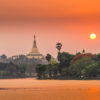 Sunset-over-Shwedagon-Pagoda-view-from-Kandawgyi-Lake